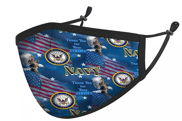 US Navy Mask with Adjustable Ear Loops