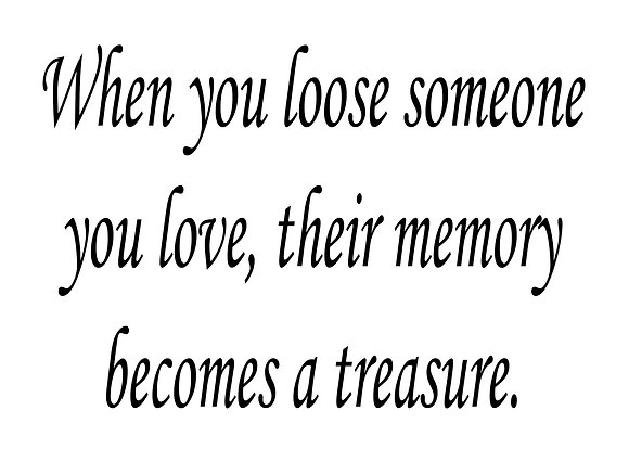 """When You Loose Someone... Memory Quilt Block 5x7"""""""