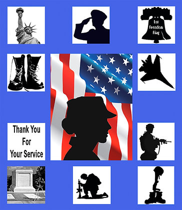 Thank You For Your Service Woman Soldier Silhouette Kit