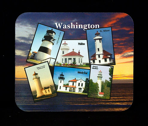 Washington State Lighthouses Mousepad