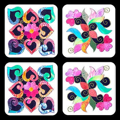 Quilt Blocks #2 Coaster Set of 4