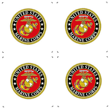 "US Marine Corps 4"" Emblems Pack of 4"