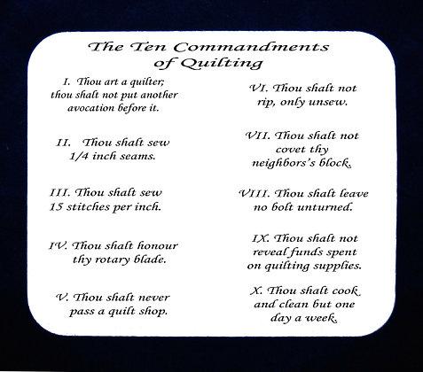 The Ten Commandments Of Quilting Mousepad