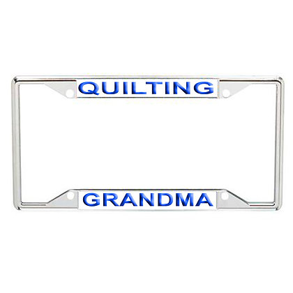 Quilting Grandma Every State License Frame