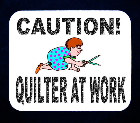 Caution... Quilter At Work Mousepad