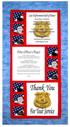 Law Enforcement Tribute Panels and Pattern Kit