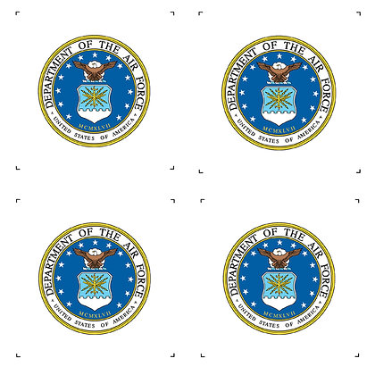 """US Air Force 4"""" Emblems Pack of 4"""