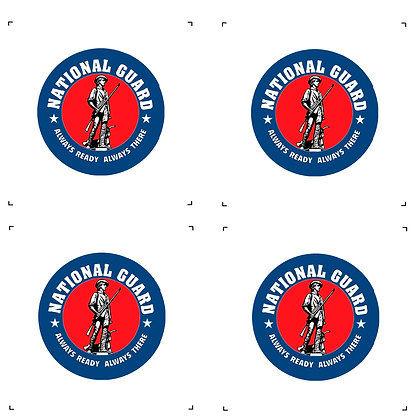 """National Guard 4"""" Emblems Pack of 4"""
