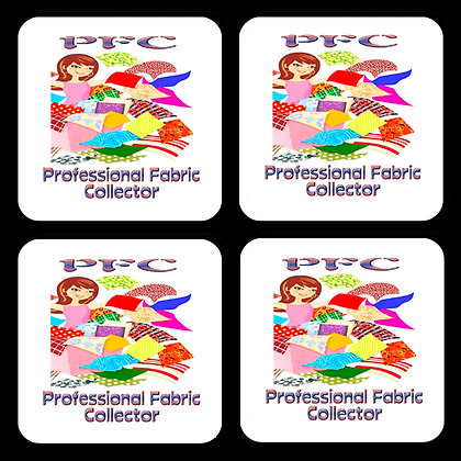 PFC Professional Fabric Collector Coaster Set of 4