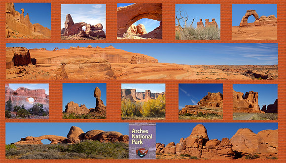Arches National Park Cotton Photo Panel
