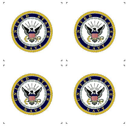 "US Navy 4"" Emblems pack of 4"
