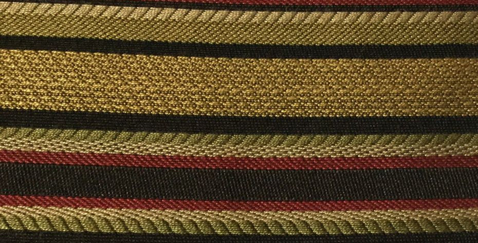 Red, Gold, Black, Green Stripe