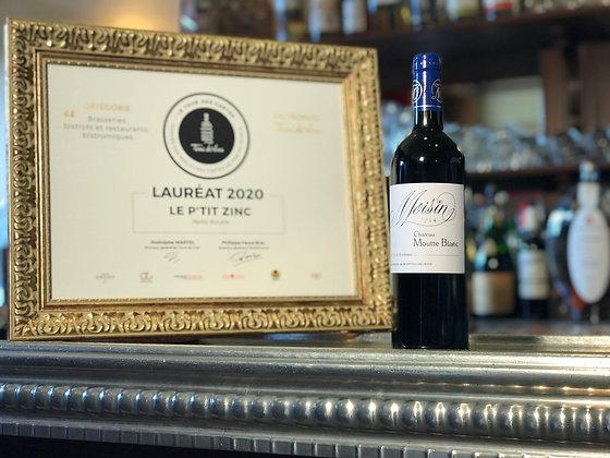 Bordeaux supérieur, 100% petit Verdot, château Moutte blanc, Moisin 2014