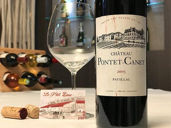 Pauillac, château Pontet-Canet, grand cru classé 2005