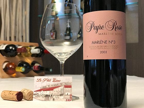 Coteaux du Languedoc, domaine Peyre Rose, Marlène n°3 2003