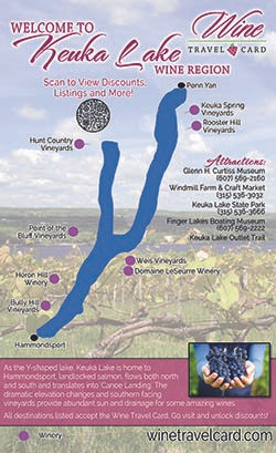 Keuka Lake Wine Map