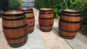Stained and Painted Barrels