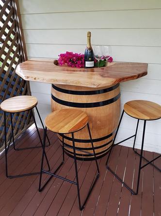 Half Barrel Bar