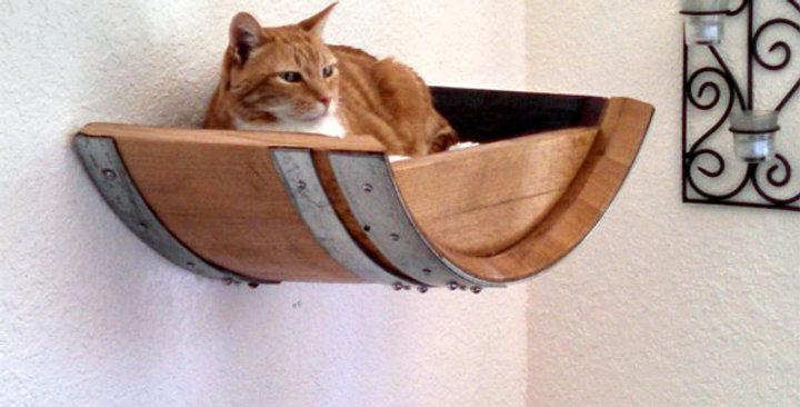 Wine Barrel Cat Perch