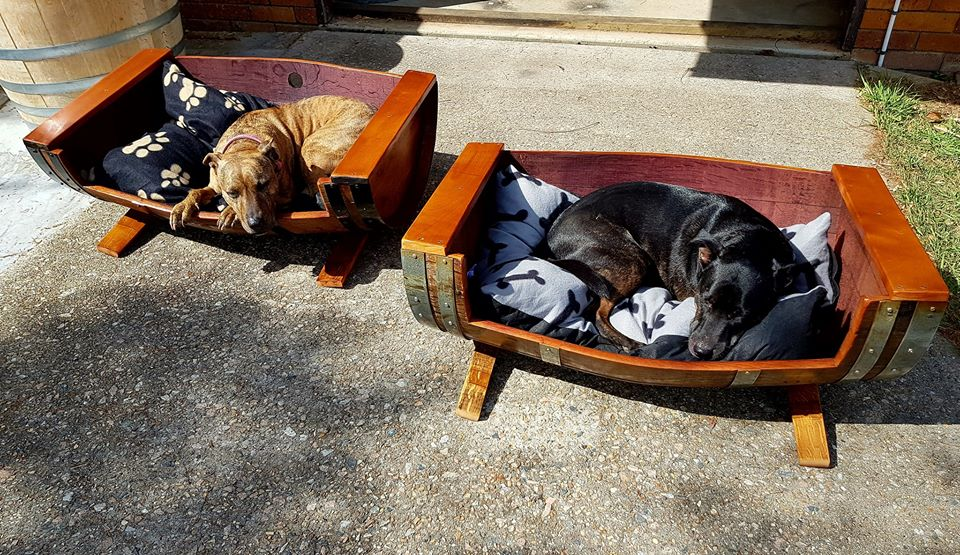 Two Full Length Barrel Beds