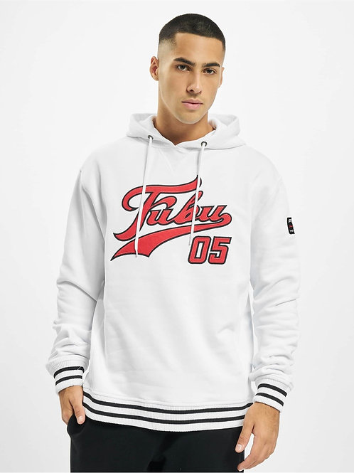 Front Logo 05 Embroidered Hooded Sweat White
