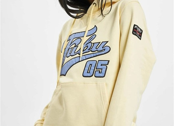 Embroidered Front 05 Hooded Sweat Yellow