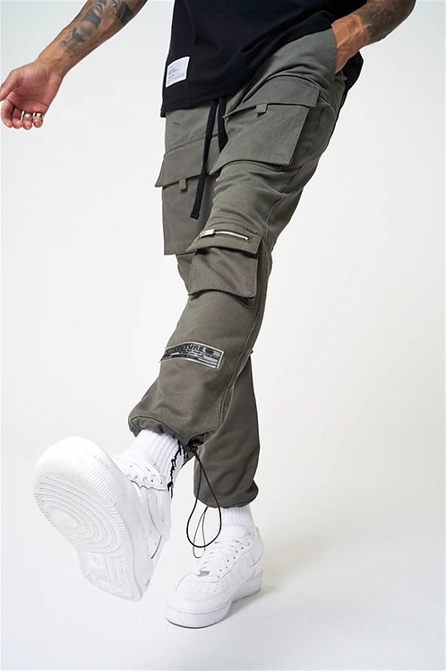 Front 4 Pockets Style Cargo Trousers Khaki