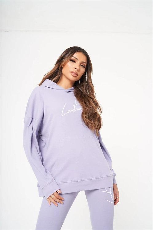 Unisex Oversize Twill Sweat Lilac