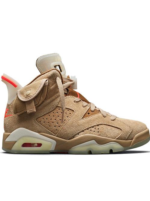 Nike x Travis Scott x Air Jordan 6 'British Khaki'