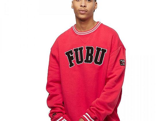 Front Printed College Sweat Red