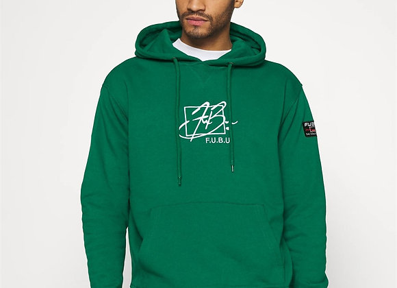 Front Signature Embroidery Hooded Sweat Green