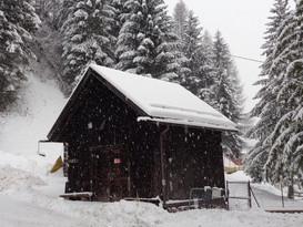 Nevicata in corso Baita