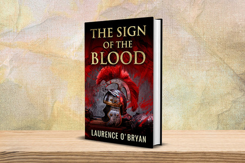 Book cover design for The Sign of The Blood (A Dangerous Emperor Book 1) by Laurence O'Bryan