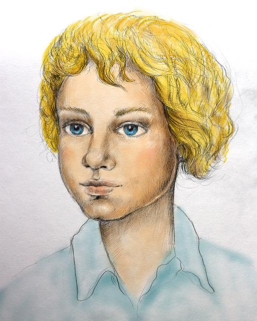 Boy portrait colored