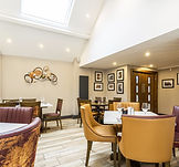 Dining tables in the Stafford Arms Restaurant