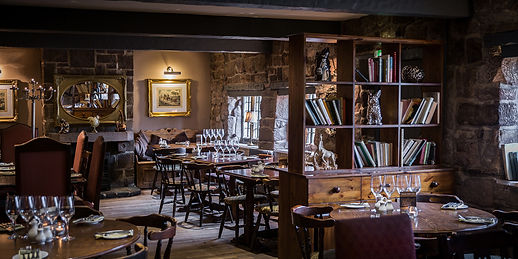 Dining area inside the Stafford Arms