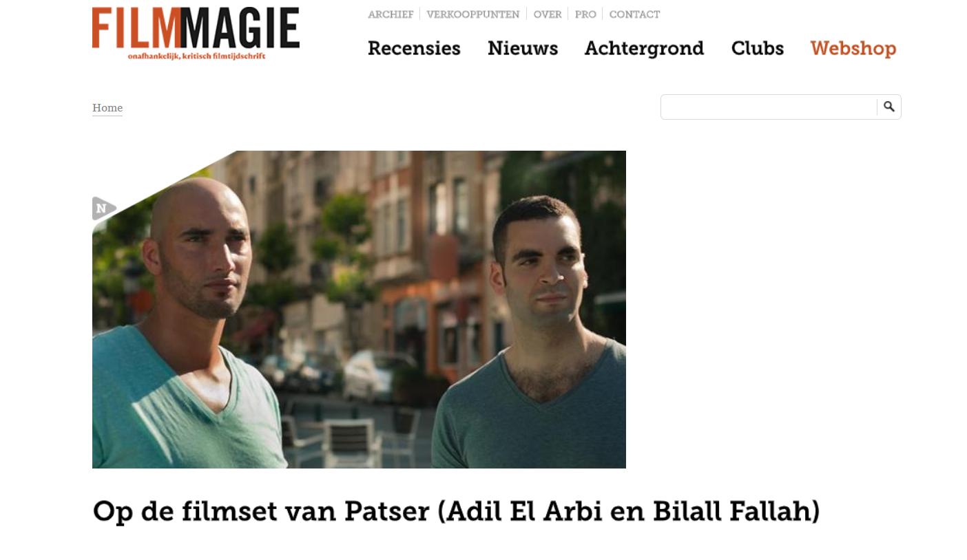 Op de filmset van Adil El Arbi