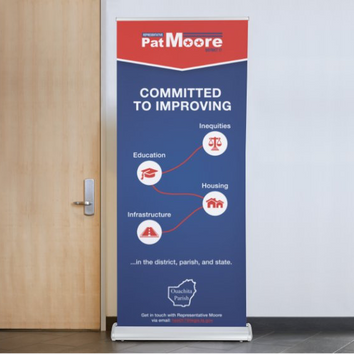 Pat Moore Roll-up Banner