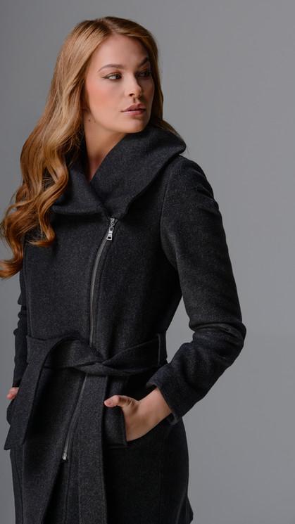 Italian Wool Blend Belted Coat