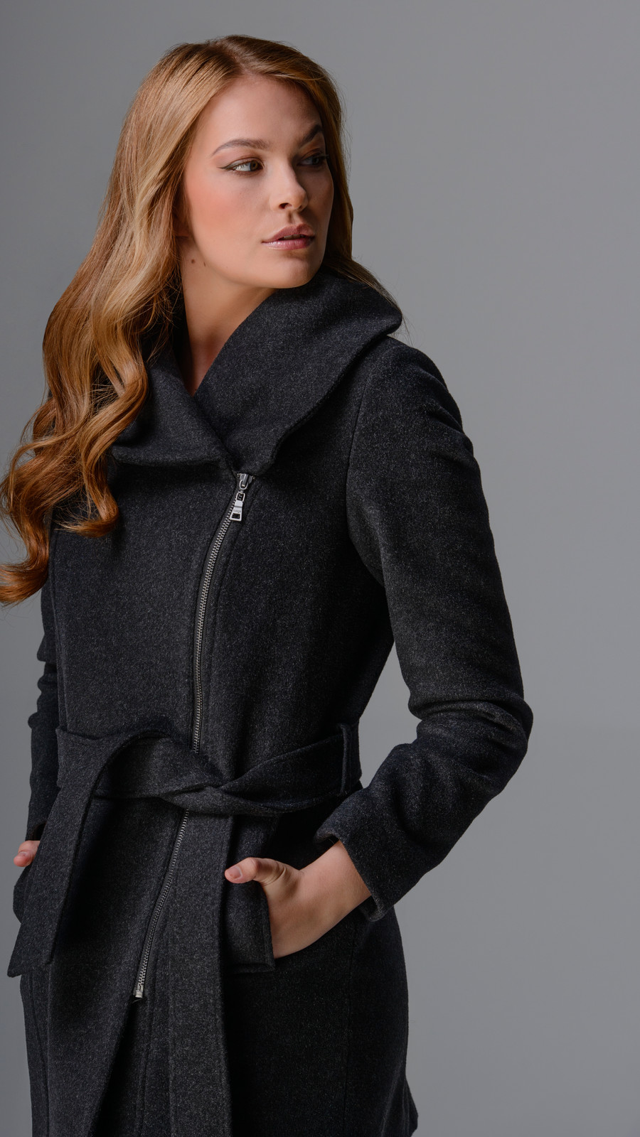 Italian Wool Blend Belted Coat
