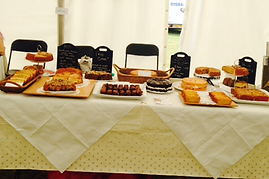 Table full of cakes