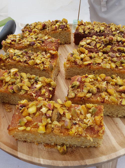 Vegan, Gluten & Wheat Free, Pistachio, Citrus & Agave drizzle