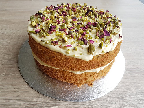 Gluten, Wheat & Dairy Free, White Chocolate, Cardamom, Pistachio & Rose Petal