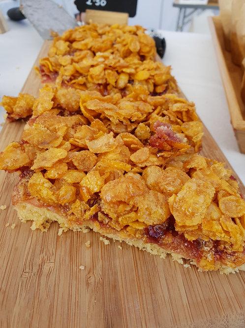 Vegan, Gluten & Wheat Free Cornflake Shortbread Slice