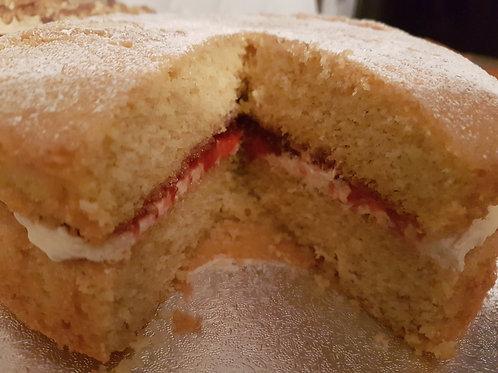 Gluten, Wheat & Dairy Free, Victoria Sponge with Luxury Strawberry Jam