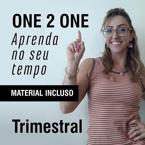 One 2 One: aprenda no seu tempo - Trimestral (em até 3x de R$ 195 no cartão)
