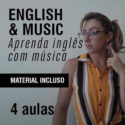 English & music: Aprenda inglês com música - 4 aulas (em até 2x de R$ 149)