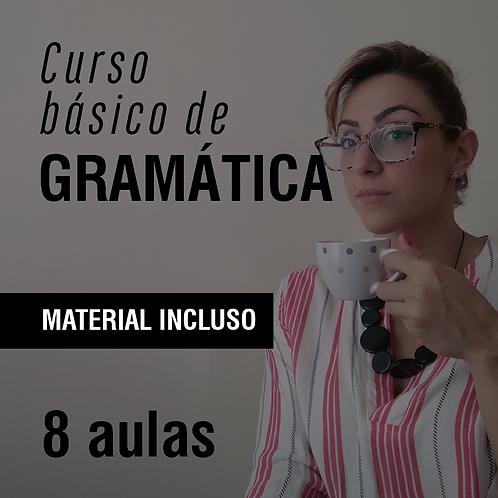 Curso básico de gramática - 8 aulas (em até 2x de R$ 318 no cartão)