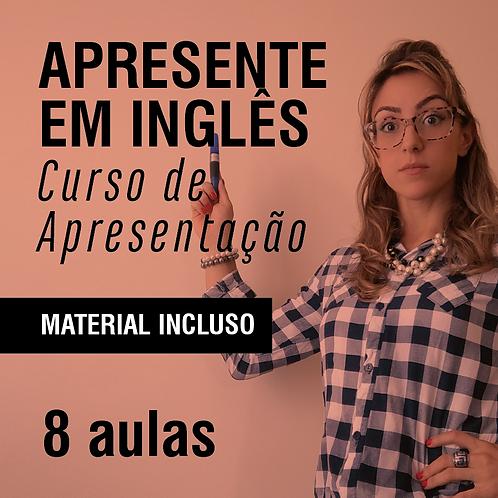 Apresente em inglês: Curso de apresentação - 8 aulas (2x de R$ 480 no cartão)
