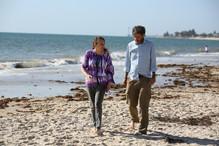 Mike and Jenny Hallam on Brighton Beach,
